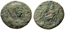 """Ancient Coins - Severus Alexander AE32 """"Tyche, Touching Summit Temple"""" Seleucia Cilicia Scarce"""