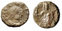 "Ancient Coins - Leo I AE4 ""Empress Wife Verina, Cross"" Constantinople 457-474 AD RIC 714 Scarce"