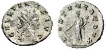 "Ancient Coins - Gallienus Silvered Antoninianus ""FORTVNA REDVX Fortuna"" Rome RIC 193 aEF"