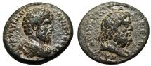 """Ancient Coins - Lucius Verus AE23 """"Bust of Zeus"""" Syria Decapolis Capitolias? Extremely Rare"""