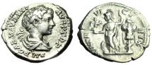 "Ancient Coins - Caracalla Silver Denarius ""MINVER VICTRIX Minerva & Trophy"" Rome RIC 25 Scarce"