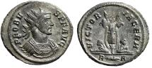 """Ancient Coins - Probus Silvered Antoninianus """"VICTORIA GERM Trophy, Two Captives"""" Rome RIC 223"""