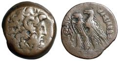 """Ancient Coins - Ptolemaic Kingdom: Ptolemy VIII Eurgetes II (Phycon) AE30 """"Zeus & Two Eagles"""""""