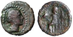 """Ancient Coins - Crete, Olous (Olus) AE13 """"Artemis Britomartis, Club & Zeus"""" Extremely Rare"""