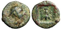 "Ancient Coins - Lycia, Telmessos AE12 ""Hermes in Petasos & Bee in Incuse"" Rare"