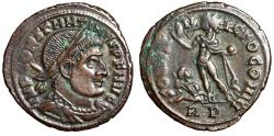 "Ancient Coins - Constantine I The Great AE21 ""Sol, Captive"" Rome RIC 55 Rare Good VF"