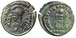 Ancient Coins - Crispus Caesar AE21 Excessively Rare Decorated Portrait Type Trier 232 AD
