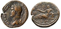 "Ancient Coins - Hadrian Travel Series As ""Bust Left & Alexandria Reclining"" RIC 844 Variant Very Rare"