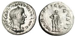 "Ancient Coins - Gordian III Silver Denarius ""VIRTVTI AVGVSTI Hercules Leaning on Club"" RIC 116"
