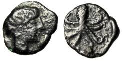 "Ancient Coins - Sicily, Syracuse AE Onkia ""Female Head (Arethusa ?) & Octopus"" 5th Century BC"