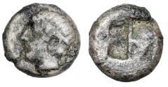 "Ancient Coins - Lesbos, Uncertain BI 1/12 Stater ""Head of Apollo & Quadripartite"" Scarce"