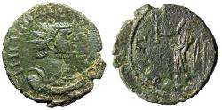 """Ancient Coins - Carausius AE Antoninianus """"PAX AVGG Pax, Branch"""" Irregular Mint nEF For Type"""