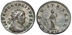 """Ancient Coins - Tacitus Silvered Antoninianus """"Aequitas, Scales"""" Rome 275-276 AD RIC 82 gVF"""