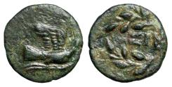 "Ancient Coins - Sikyonia, Sikyon AE14 ""Dove Flying Right & SI in Right Tied Wreath"" nEF"