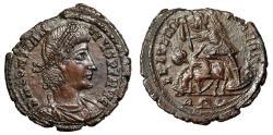 """Ancient Coins - Constantius II AE20 """"FEL TEMP REPARATIO Spearing Horse Rider"""" Rome RIC 310 gVF"""