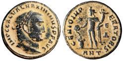 "Ancient Coins - Maximinus II Daia AE Follis ""Genius, Altar"" Antioch RIC 133c VF Scarce Desert"