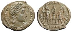 "Ancient Coins - Constantine I The Great AE17 ""GLORIA EXERCITVS Soldiers"" Antioch RIC 108 EF"