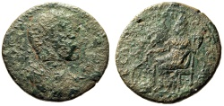 "Ancient Coins - Severus Alexander AE32 ""Tyche, Touching Summit Temple"" Seleucia Cilicia Scarce"