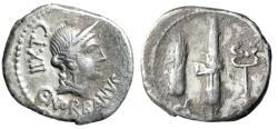 "Ancient Coins - C. Norbanus AR Denarius ""Venus & Fasces, Grain Ear & Caduceus"" 83 BC Good Fine"