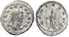 "Ancient Coins - Gallienus Silvered Antoninianus ""GENIVS AVG Genius, Altar"" Antioch aEF"