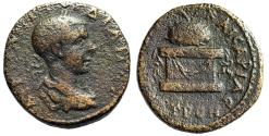 """Ancient Coins - Gordian III AE29 of Neocaesarea, Pontus """"Agonistic Urn on Decorated Table"""" gF"""