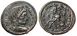 "Ancient Coins - Constantine I The Great AE19 ""SARMATIA DEVICTA Victory Captive"" Lyons RIC 214 EF"