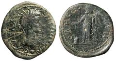 """Ancient Coins - Caracalla AE30 of Odessos, Moesia """"Great Deity by Altar"""" Rare Large Type"""