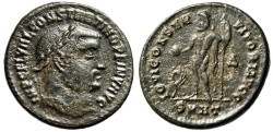 "Ancient Coins - Constantine I The Great AE Follis ""CONSTANTINO Legend"" Heraclea RIC 71 R3 Rare"