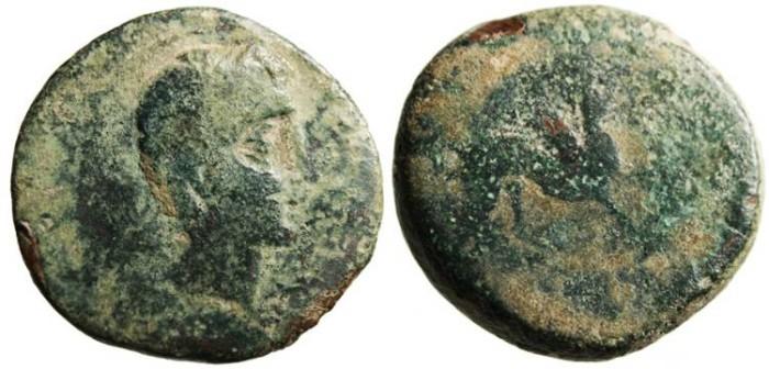 "Ancient Coins - Spain, Castulo AE 30 ""Sphinx"" 150-100 BC"