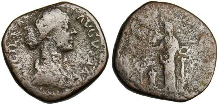 "Ancient Coins - Lucilla, AE Sestertius ""Pietas""Rome RIC 1755 VG 164-169 AD"