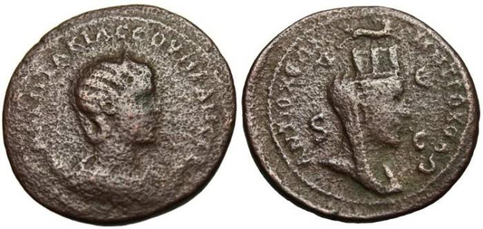 "Ancient Coins - Otacilia Severa AE 33 ""City-Goddess Tyche"" Syria, Antioch"