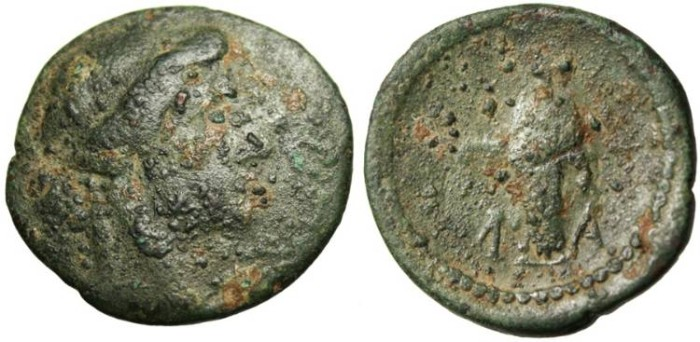 "Ancient Coins - Lakonia, Lakedaimon (Sparta) ""Apollo Standing"" Unpublished? Very Rare"