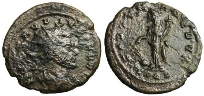 """Ancient Coins - Claudius II Gothicus, AE Ant. """"FORTVNA REDVX"""" Scarce Cyzicus SPQR Exergue RIC 234"""