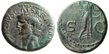 "Ancient Coins - Claudius I AE AS ""SC Minerva With Spear"" Rome 42AD RIC 116 aVF Choice Green Patina"
