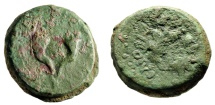"Ancient Coins - Hasmonean Kingdom of Judea: Mattathias Antigonos 8 Prutot ""Cornucopia & Wreath"""