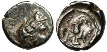 "Ancient Coins - Bithynia, Cius (Kios) AE12 ""Laurel Phrygian Cap & Kantharos (Vase)"" Rare"