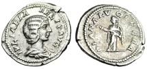 "Ancient Coins - Julia Domna Silver Denarius ""DIANA LVCIFERA Diana The Light-barer"" RIC 373a gVF"