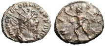 "Ancient Coins - Victorinus AE Ant. ""INVICTVS Sol"" Cologne Mint RIC 114"