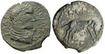 "Ancient Coins - Gallienus AE28 ""She-Wolf Romulus & Remus"" Mysia Parium Very Rare gVF"