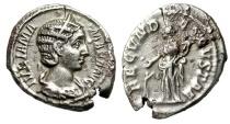 "Ancient Coins - Julia Mamaea Silver Denarius ""FECVND AVGVSTAE Fecunditas, Child"" RIC 331 VF"
