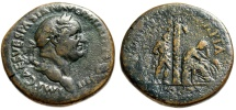 "Ancient Coins - Vespasian Sestertius Judaea Capta Series ""Jewess, Tree, Captive"" RIC 161 Rare"