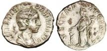 "Ancient Coins - Orbiana Denarius ""FECVND AVGVSTAE Fecundity"" Unpublished & Extremely Rare Type!"