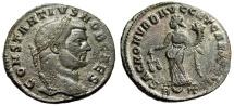 """Ancient Coins - Constantius I Chlorus Silvered Follis """"Moneta, Scales"""" Rome RIC 112a Choice VF"""