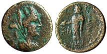 "Ancient Coins - Lydia, Sardes (Sardis) AE22 ""Veiled Tyche & Zeus Lydios"" Good Fine"