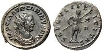 """Ancient Coins - Carinus AE Antoninianus """"SAECVLI FELICITAS Spear"""" Lugdunum Lyons RIC 214 EF"""
