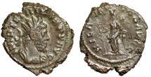 "Ancient Coins - Tetricus I AE Double (Heavy) Antoninianus ""Hilaritas, Palm"" Trier RIC 80cf Rare"