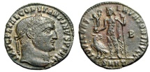 "Ancient Coins - Constantine I The Great AE Follis ""IOVI CONSERVATORI Jupiter"" Heraclea RIC 5 aEF"