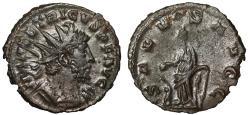 "Ancient Coins - Tetricus I AE Antoninianus ""SALVS AVGG Salus by Altar"" Cologne RIC 126 VF"