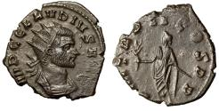"Ancient Coins - Claudius II Gothicus AE Antoninianus ""Holding Branch"" Dated 269 AD Scarce nEF"