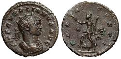 "Ancient Coins - Aurelian Antoninianus ""PAX AVGVSTI Pax, Retrograde Q"" Siscia Very Rare EF"